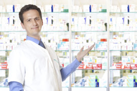 smiling male pharmacist